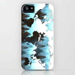 world map forest iPhone Case