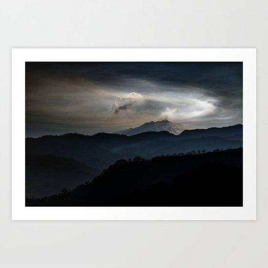 Vulcan Etna Art Print
