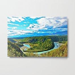 Crooked River Metal Print