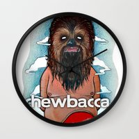 chewbacca Wall Clocks featuring CHEWBACCA by Morbix