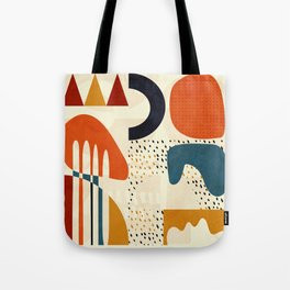 mid century shapes geometric abstract color 1 Tote Bag