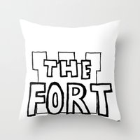 logo Throw Pillows featuring Logo by The Fort by The Smoking Roses!