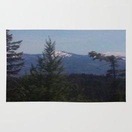 Snow Cap Mountains Rug