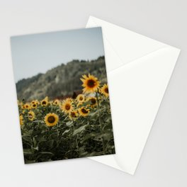 German sunflower field near mountain   Colourful Travel Photography   Waldkirch/Freiburg, Germany (Europe) Stationery Cards