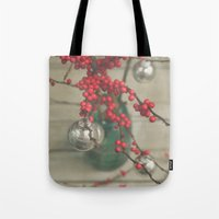 holiday Tote Bags featuring Holiday by Olivia Joy StClaire