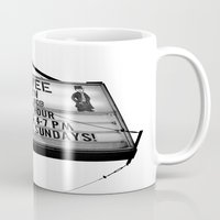pee wee Mugs featuring Pee Wee tavern sign by Vorona Photography