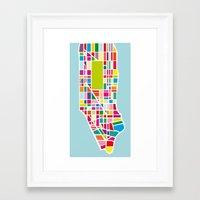 manhattan Framed Art Prints featuring Manhattan by Glen Gould