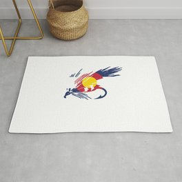 Colorado Fly Fishing Hook Flag River Men Rug