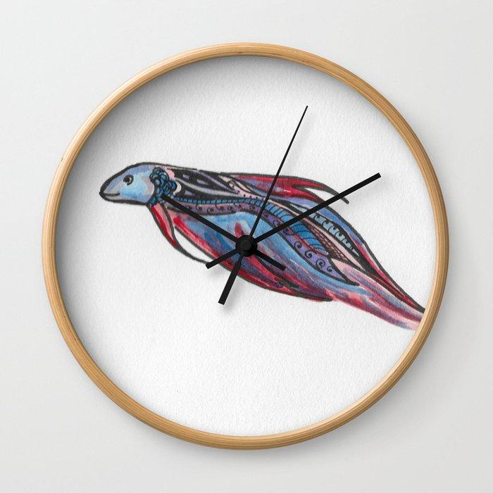 A Little Betta Wall Clock