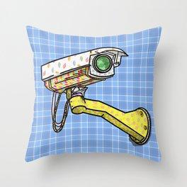 Security Camera Throw Pillow