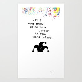 A Jester in Your Mind Palace Art Print