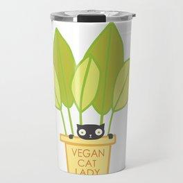 VEGAN CAT PLANT LADY Travel Mug