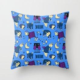 Sleepy-Time Goats Throw Pillow