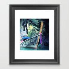 Longboat Framed Art Print