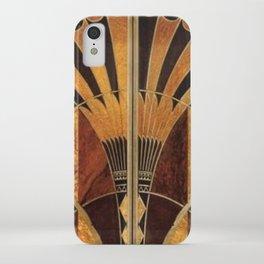 art deco wood iPhone Case