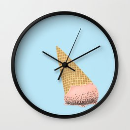 Ice Cream Falls - Strawberry Wall Clock