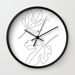 Thinking about You Minimalist Black and White Wall Clock