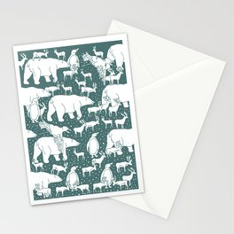 Polar gathering (emerald) Stationery Cards
