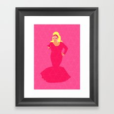 Divine Flamingo Framed Art Print