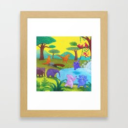 Having fun in the sun Framed Art Print