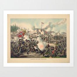 Civil War Assault on Fort Sanders Nov. 29 1863 Art Print