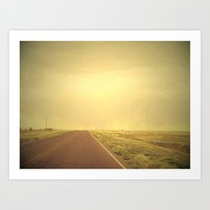Lonely road 1 Art Print