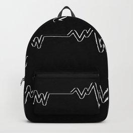 Minimalist black and white heartbeat Backpack