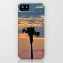 Palm Trees At Sunset iPhone Case