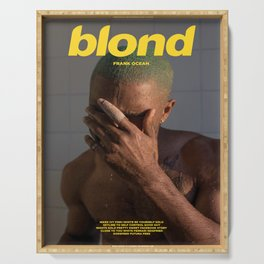Fran-k-Ocean - Blond - Frank Album Cover Poster Print Wall Art, Custom Poster, Home Decor Serving Tray