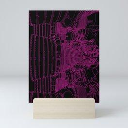 Apollo Rocket Booster - Pink Neon Mini Art Print