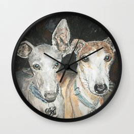 Cuddly Canines Wall Clock