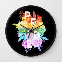 Floral Pride Wall Clock