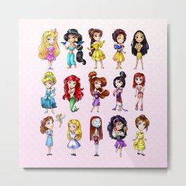 Disney Princesses Metal Print