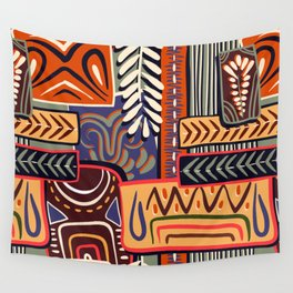 African Geometric Pattern Wall Tapestry