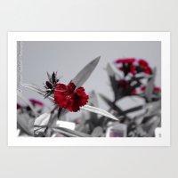 Red Petals by Igh Kihl Media/Piffington Kushfield Photography Art Print
