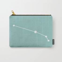 Aries Zodiac Constellation - Teal Carry-All Pouch