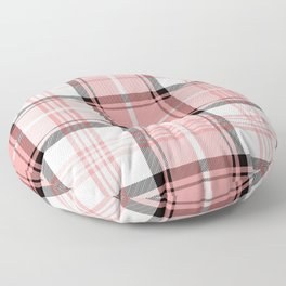 Pink Tartan Floor Pillow