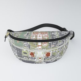 Beijing city map engraving Fanny Pack