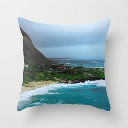 A Postcard Home from Paradise Throw Pillow
