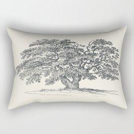 Antique Tree Illustration III Rectangular Pillow