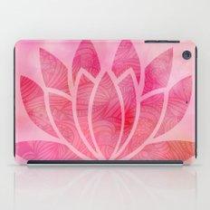 Watercolor Lotus Flower Yoga Zen Meditation iPad Case