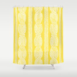 Cable Row Yellow Shower Curtain
