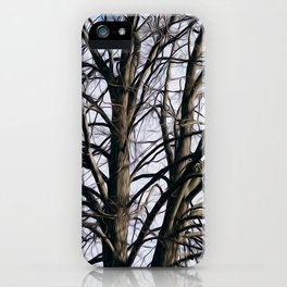Stained Glass Tree iPhone Case