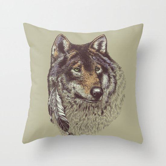 Wolfen Throw Pillow