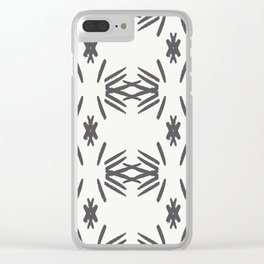 Aztec tile Clear iPhone Case