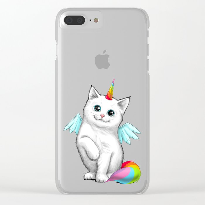 Cat unicorn Clear iPhone Case