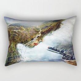 Mother nature is in War Rectangular Pillow
