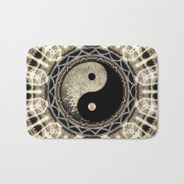 Yin Yang Geometry Mandala V1 Bath Mat