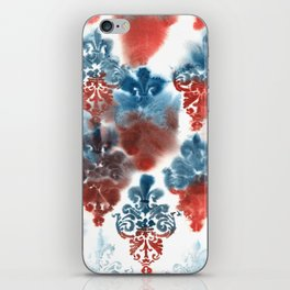 Damask: Red and Blue, Deteriorated iPhone Skin
