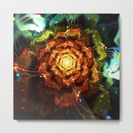 Submerged Flower Metal Print